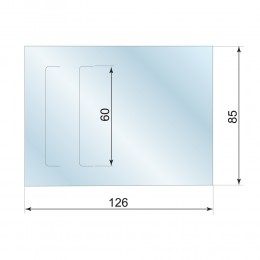 Клапан-Заготовка прямоугольная, с 2 прорезями, 85*128