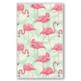 """Блокнот на пружине, блок в точку, с ручкой, """"Фламинго"""", 110*190"""