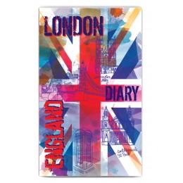 """Ежедневник с ручкой 101х160, """"Британия"""""""