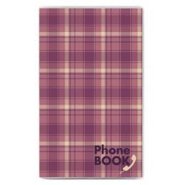 """Телефонная книга с ручкой, """"Сиреневая клетка"""", 101*160"""