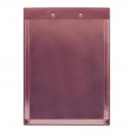 Планшет А4 с расширяющимся карманом и прижимом, бордовый, 230*320
