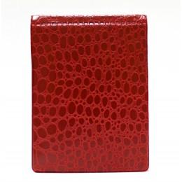 Блокнот с калькулятором 100х135, красный