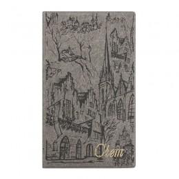 "Папка ""Счет"" (120 х 210 х 3 мм), серый с городом"