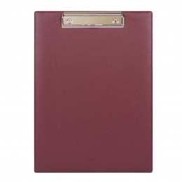 Планшет А4 с расширяющимся карманом и прижимом, 230*320,бордовый
