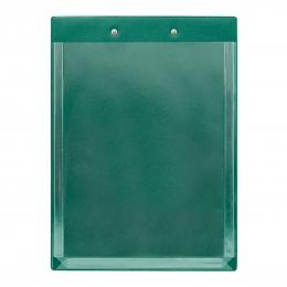 Планшет А4 с расширяющимся карманом и прижимом, 230*320, зеленый