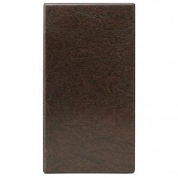 Визитница для 160 карточек, 135*250, коричневый кожзам