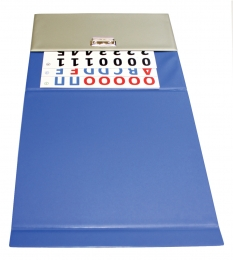 Папка-касса Азбука магнитная, синий