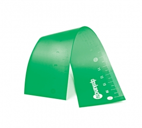 Линейка 15 см, гибкая, мягкий ПВХ, зеленый