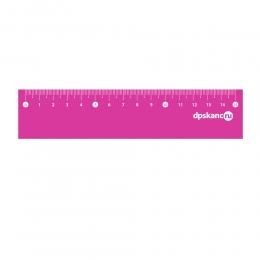 Линейка 15 см, гибкая, мягкий ПВХ, розовый