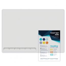 Покрытие на стол с линейкой 30 см, 655*475, прозрачное матовое
