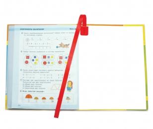 Закладки самоклеящиеся для книг, 6 шт. в упак., красные