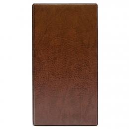 Визитница на 160 шт. , кольцевой мех-м, коричневый