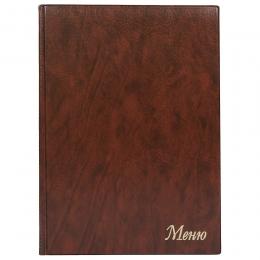 Папка «Меню» с 10 файлами 235х320, коричневый