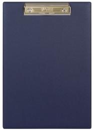 Планшет с прижимным механизмом, 230х320 мм, синий