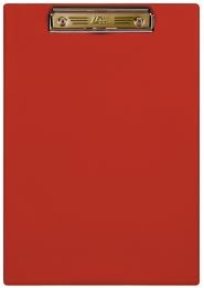 Планшет с прижимным механизмом, 230х320 мм, красный