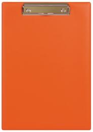 Планшет с прижимным механизмом, 230х320 мм, оранжевый