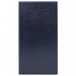 Визитница на 160 шт., 135*250, синий кожзам