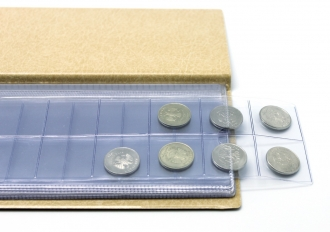 Монетница, 110х222 мм, коричневый