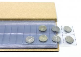 Монетница, 110х222 мм, серый