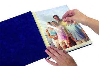 Альбом для фотографий, 18 листов, 275х325 мм, синий