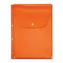 Файл-вкладыш расширяющийся клапан с кнопкой, 245х310, 4 отв., оранжевый