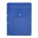 Файл-вкладыш расширяющийся клапан с кнопкой, 243х310, 4 отв., голубой