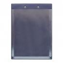 Планшет А4 с расширяющимся карманом и прижимом, синий
