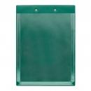 Планшет А4 с расширяющимся карманом и прижимом, зеленый