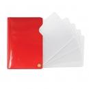 Футляр для автодокументов Auto, 95*140, на винте, красный глянец