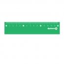 Линейка 15 см, мягкий ПВХ, зеленый
