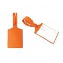 Бирка багажная, ярко оранжевая, 75*60