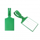 Бирка багажная, ярко зеленая, 75*60
