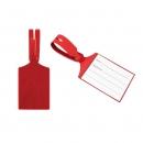 Бирка багажная, красная, кожзам, 75*60