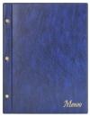 Папка «Меню» с 10 сменными файлами, 250х320, синий