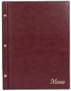 Папка «Меню» с 10 сменными файлами, 250х320, бордовый