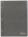 Папка «Меню» с 10 сменными файлами, 250х320, серый