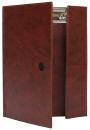 Папка с прижимным механизмом А5 175х230, коричневый