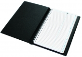 Телефонная книга с файлами для визиток (130х190 мм), черный