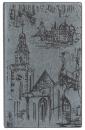 Телефонная книга с файлами для визиток (130х190 мм), серый с городом