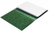 Телефонная книга с файлами для визиток (130х190 мм), зеленый