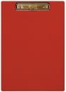 Планшет с прижимным механизмом, 225х320 мм, красный