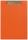 Планшет с прижимным механизмом, 225х320 мм, оранжевый