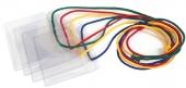 Бейдж горизонтальный, в комплекте со шнуром, зеленый шнурок