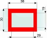 Курсор ДПС для блока шириной 320-360 мм, красный