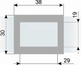 Курсор ДПС для блока шириной 320-360 мм, серый металлик