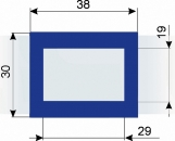 Курсор ДПС для блока шириной 360-400 мм, синий
