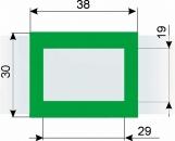 Курсор ДПС для блока шириной 360-400 мм, зеленый