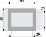 Курсор ДПС для блока шириной 360-400 мм, серый металлик