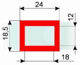Курсор ДПС для блока шириной 180-230 мм, красный