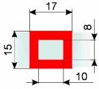Курсор ДПС для блока шириной 80-130 мм, красный